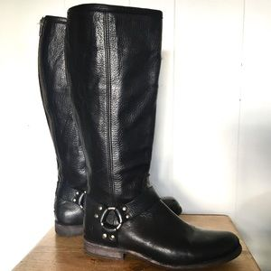 Frye Phillip Harness Black Size 9.5 B